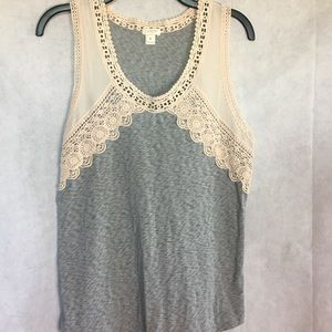 J crew lace top tank size medium